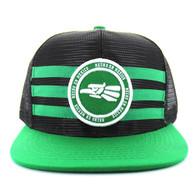 SM686 Mexico Mesh Snapback Cap (Black & Kelly Green)
