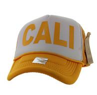 SM740 Cali Trucker Mesh Cap (White & Gold)