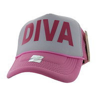 SM740 Diva Trucker Mesh Cap (White & Light Pink)