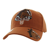 VM196 Horse & Belt Velcro Cap (Solid Texas Orange)