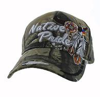 VM291 Native Pride Skull Velcro Cap (Solid Hunting Camo)