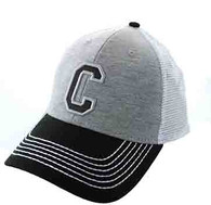 SM900 Solid Letter C Cotton Mesh Trucker Cap (Grey & Black)