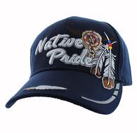 VM291 Native Pride Skull Velcro Cap (Solid Navy)