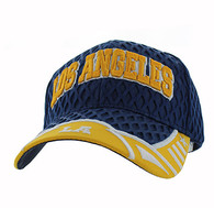 VM421 Los Angeles City Big Mesh Velcro Cap (Navy & Gold)