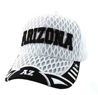 VM421 Arizona State Big Mesh Velcro Cap (White & Black)