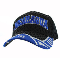 VM421 Nicaragua Big Mesh Velcro Cap (Black & Royal)