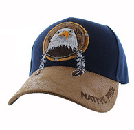VM669 Native Pride Eagle Velcro Cap (Navy)