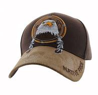 VM669 Native Pride Eagle Velcro Cap (Brown)
