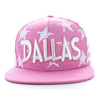 SM395 Dallas Star Cotton Snapback (Light Pink & White)