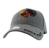 VM274 Cock Velcro Cap (Solid Light Grey)
