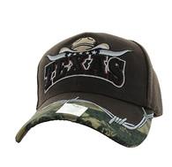 VM354 Texas Velcro Cap (Solid Brown)