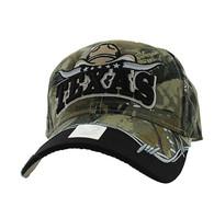 VM354 Texas Velcro Cap (Solid Hunting Camo)