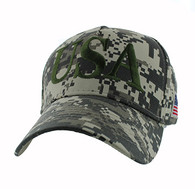VM690 American USA Cotton Velcro Cap (Solid Digital Camo)