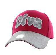 VM628 Diva Velcro Cap (Hot Pink)