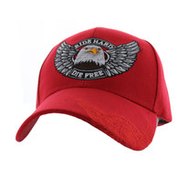 VM176 Choppers Velcro Cap (Solid Red)