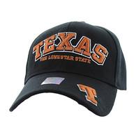VM145 Texas Velcro Cap (Solid Black)