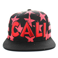 SM395 Cali Cotton Snapback (Black & Red)