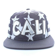 SM395 Cali Cotton Snapback (Light Grey & White)
