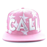 SM395 Cali Cotton Snapback (Light Pink & White)
