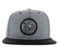 SM582 Cali Bear Cotton Snapback (Grey & Black)