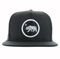 SM582 Cali Bear Cotton Snapback (Black & Black)