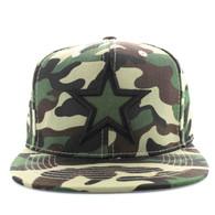 SM598 Big Star Cotton Snapback (Military Camo & Military Camo)