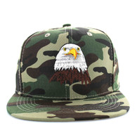 SM598 Eagle Cotton Snapback Cap (Military Camo & Military Camo)