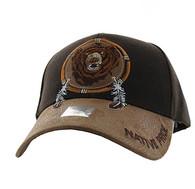 VM669 Native Pride Bear Velcro Cap (Brown)