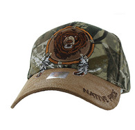 VM669 Native Pride Bear Velcro Cap (Hunting Camo)