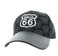 VM753 Route 66  Velcro Cap (Black & Black)