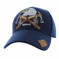 VM692 Native Pride Eagle Velcro Cap (Solid Navy)