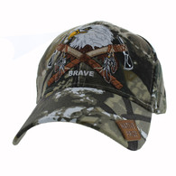 VM692 Native Pride Eagle Velcro Cap (Solid Hunting Camo)