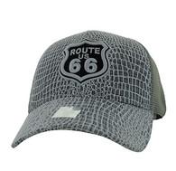 VM738 Route 66 Mesh Trucker Cap (Grey & Grey)