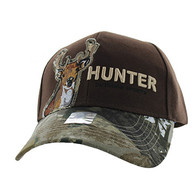 VM719 Deer Hunt Velcro Cap (Brown & Hunting Camo)