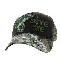 "VM711 ""Bite Me"" Mesh Trucker Cap (Brown & Hunting Camo)"