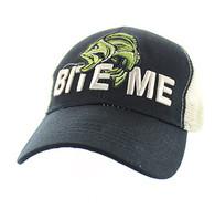 "VM712 ""Bite Me"" Mesh Trucker Cap (Black & Khaki)"