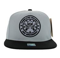 SM658 Homeland Security Snapback Cap (Black & White)