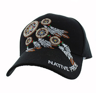 VM252 Native Pride Dream Catchers Velcro Cap (Solid Black)