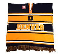 WP010 Winter Denver Poncho (Navy & Orange)