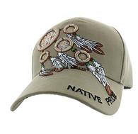 VM252 Native Pride Dream Catchers Velcro Cap (Solid Khaki)