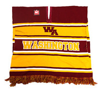 WP010 Winter Washington Poncho (Burgundy & Gold)