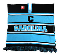WP010 Winter Carolina Poncho (Black & Aqua)