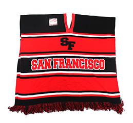 WP010 Winter San Francisco Poncho (Black   Red) - Ace Cap 007712cc2c5a