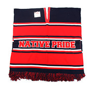 WP010 Winter Native Pride Poncho (Navy & Red)