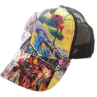 VP022 Blank Mesh Back Trucker Velcro Cap #2 (Hunting Camo & Black)