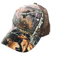 VP022 Blank Mesh Back Trucker Velcro Cap #6 (Hunting Camo & Brown)