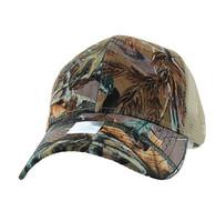 VP022 Blank Mesh Back Trucker Velcro Cap #6 (Hunting Camo & Khaki)