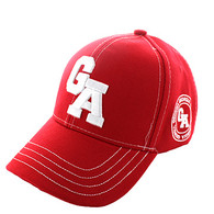 VM743 Georgia State Velcro Cap (Solid Red)