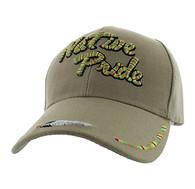 VM413 Native Pride Velcro Cap (Solid Khaki)