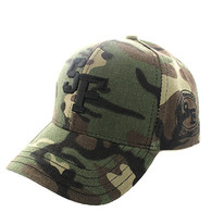 VM743 San Francisco City Velcro Cap (Soild Military Camo)